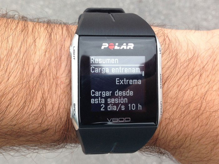 Training load, Polar V800