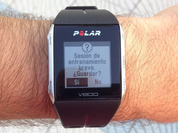 Polar V800, short training