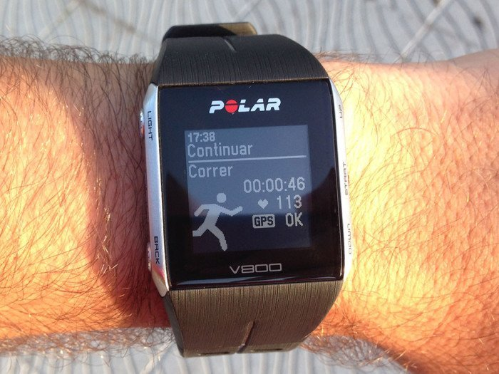 Polar V800 training paused
