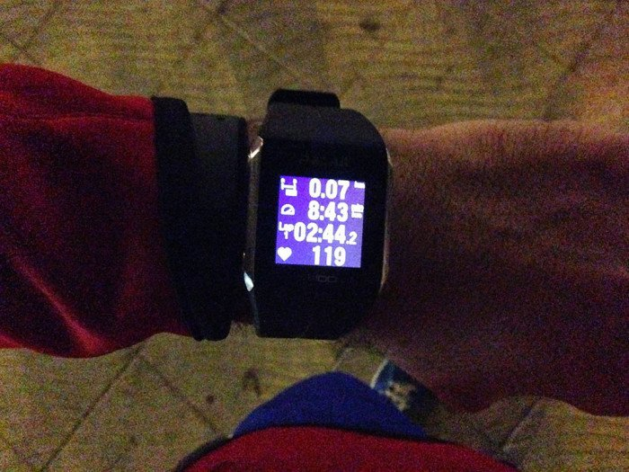 Training at night with the Polar V800