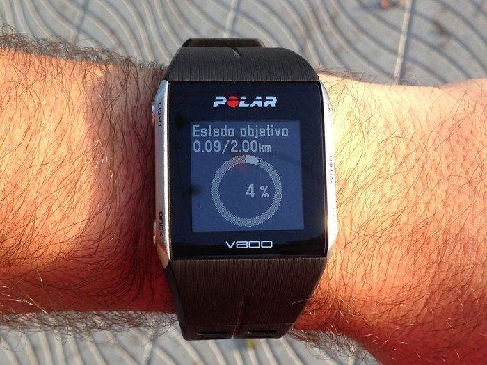 Objetivo rápido Polar V800