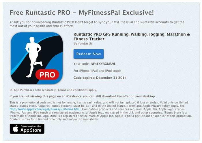 Runtastic PRO gratis, paso 4.1