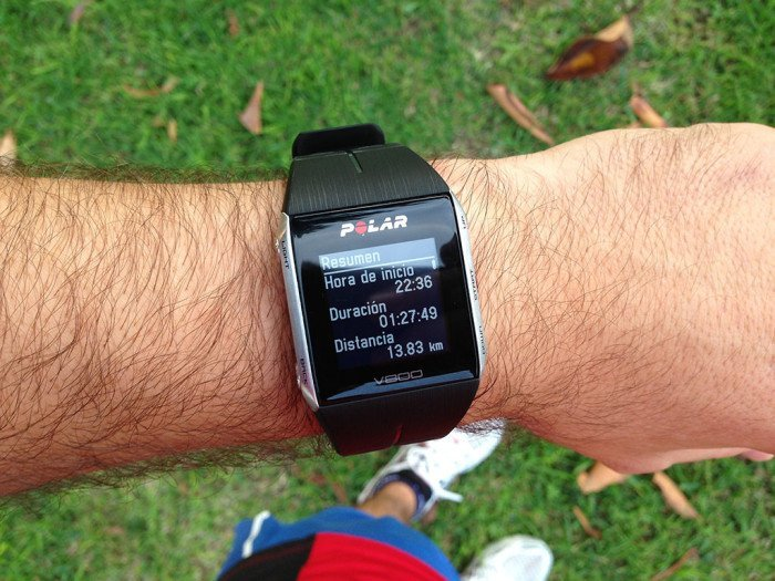 Polar V800 Activity Summary, screen 1