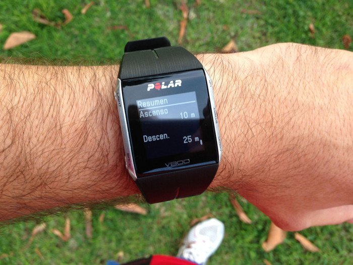 Polar V800 Activity Summary, screen 12