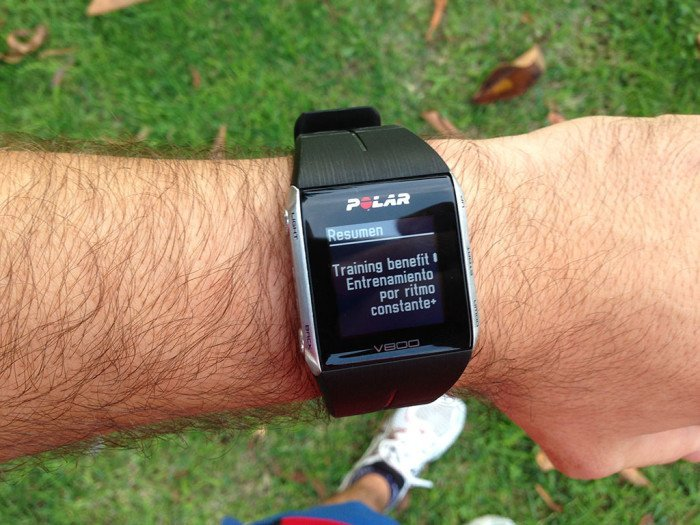 Polar V800 activity summary, screen 3