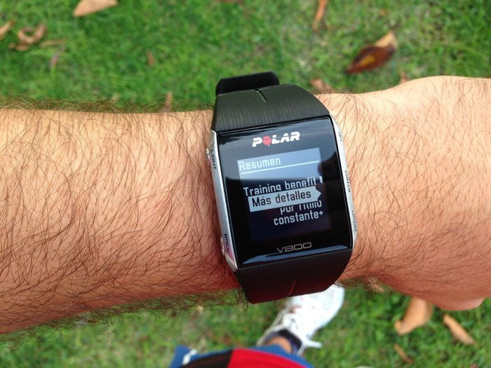 Polar V800 Activity Summary, screen 4
