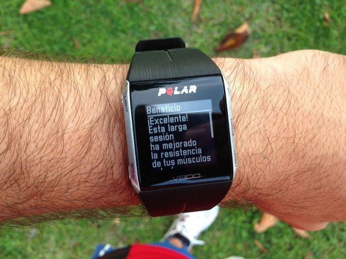 Polar V800 activity summary, screen 5