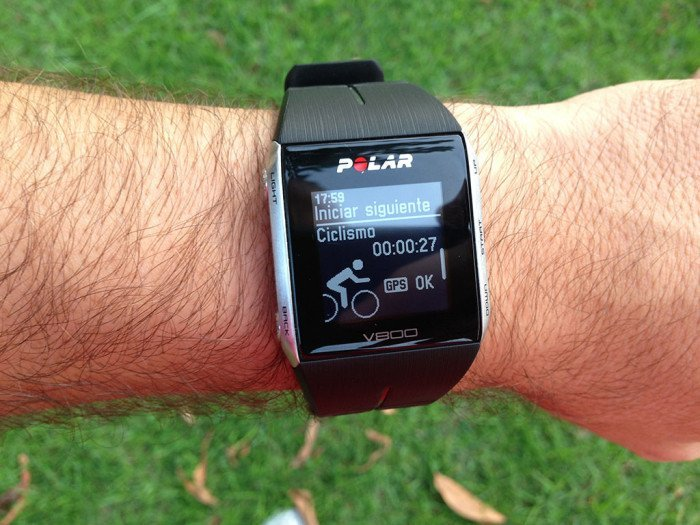 Polar V800, triathlon mode 3