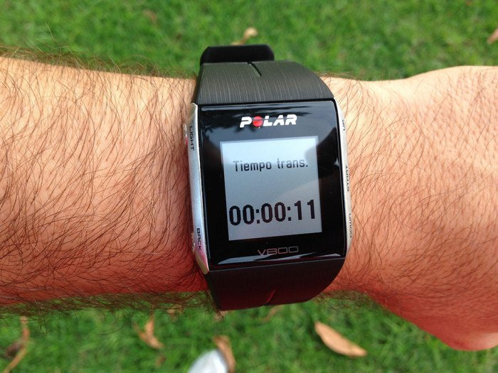 Polar V800, triathlon mode 4