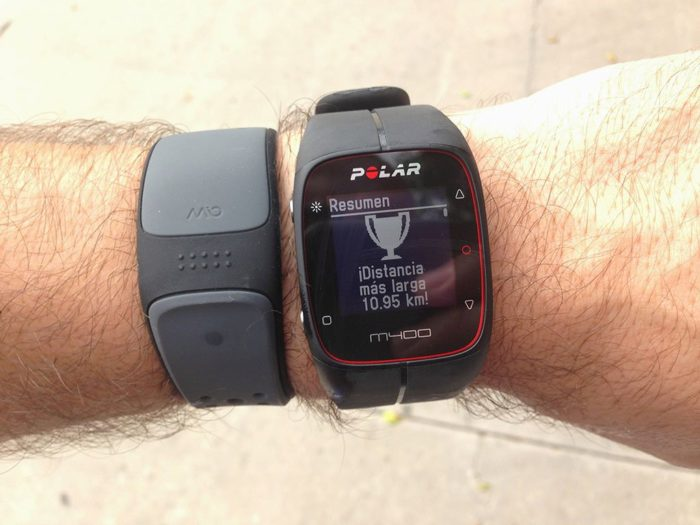 Polar M400 record distance traveled