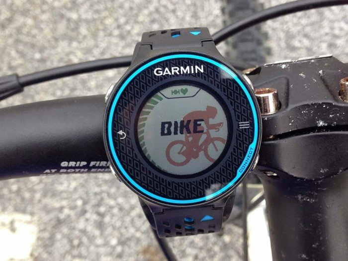 Garmin 620 bike mode