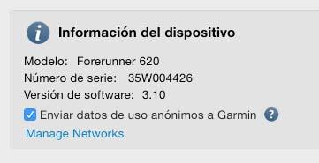 Configurar WiFi Garmin 620 - 2
