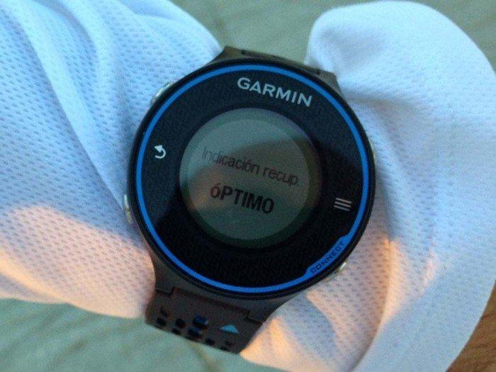 Indicación de recuperación de Garmin 620