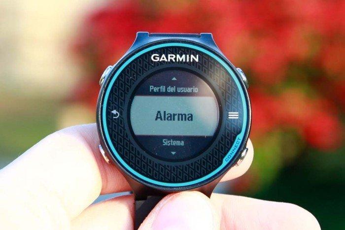 Alarma en Garmin 620