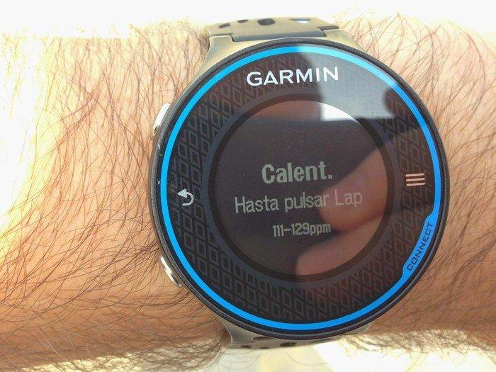 Calentamiento entrenamiento con Garmin 620