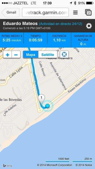 Livetrack iOS