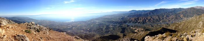 Panoramic view of La Concha
