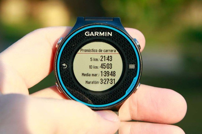 Pronóstico de carrera Garmin Forerunner 620