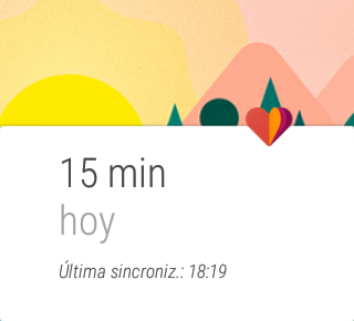 Google Fit, activity of the day