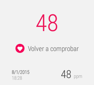 Google Fit, pulso capturado