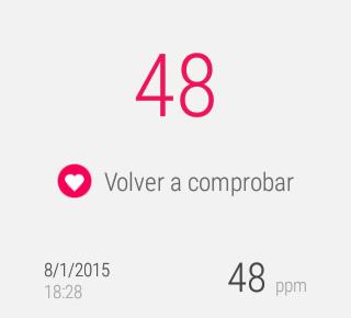Google Fit, captured pulse