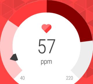 Actividad cardíaca, pulso tomado