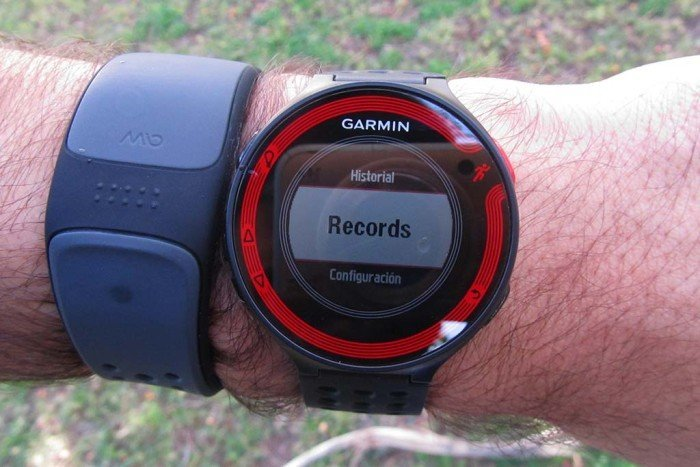 Menú records Garmin Forerunner 220