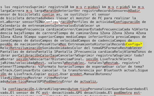 Reparar texto Garmin 220 - 2