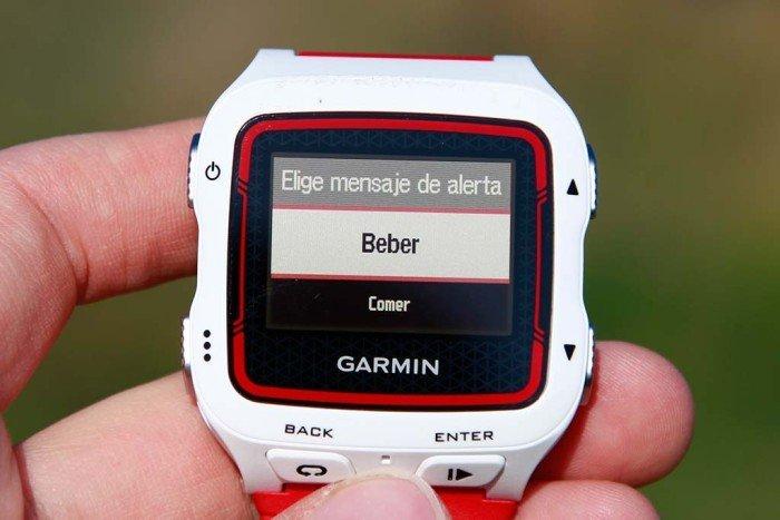Garmin 920xt - Configuración de alertas 2