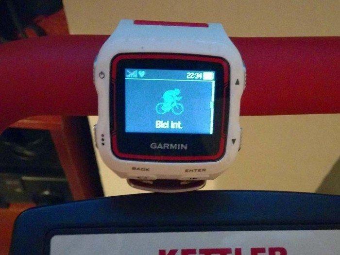 Garmin 920xt Perfil ciclismo en interior