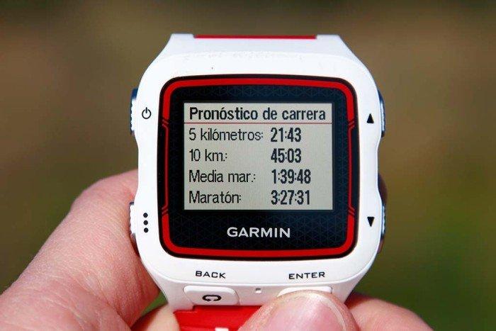 Garmin 920xt - Pronóstico de carrera