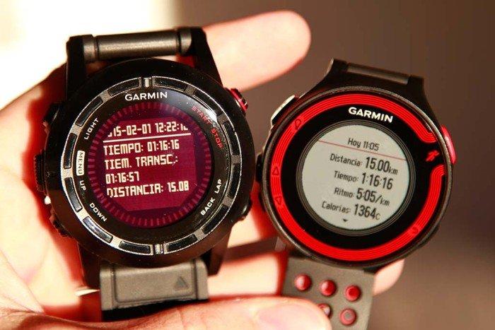 Comparativa distancia Fenix 2 Forerunner 220