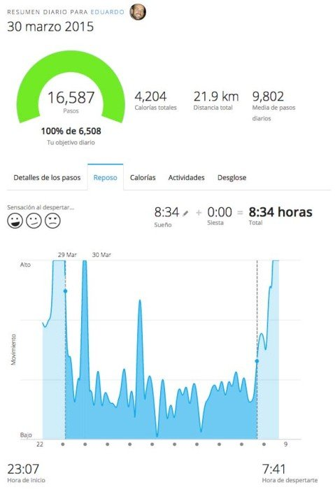 Monitor de sueño Garmin Connect