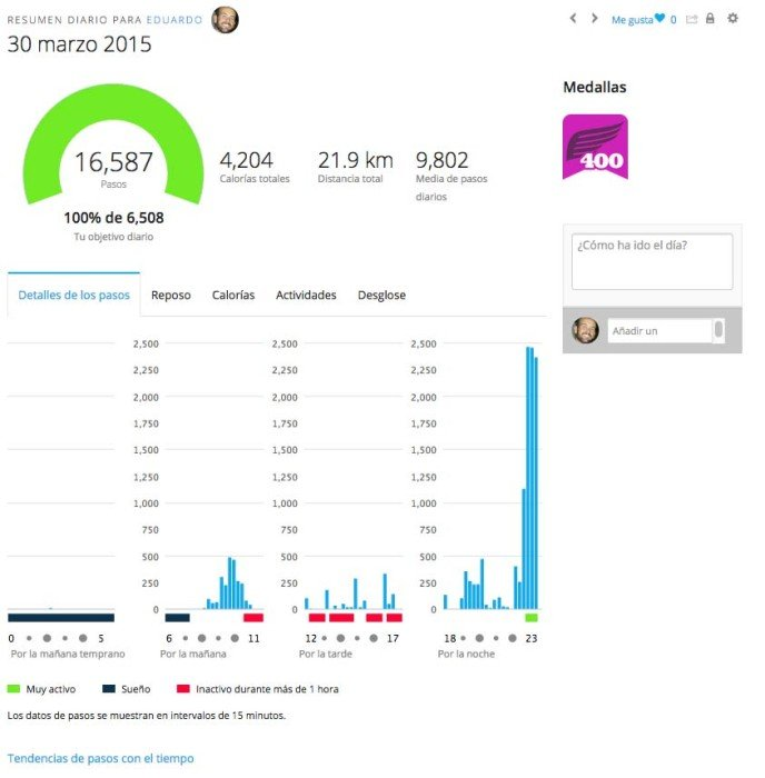Monitor de actividad Garmin Connect