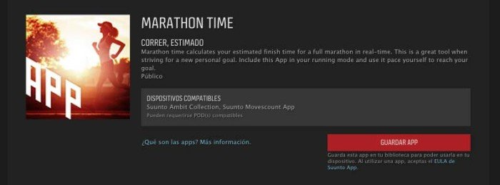 Suunto Movescount App zone