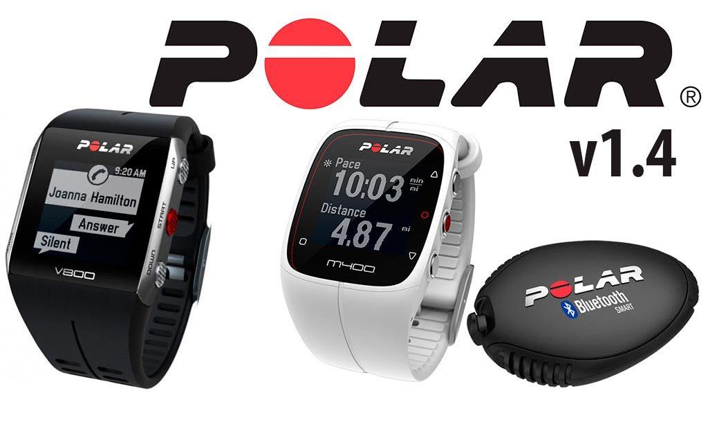 Actualizaciones de Polar para V800, M400 y Flow 1