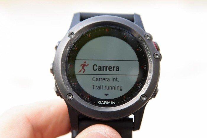 Garmin Fenix 3 aplicación carrera