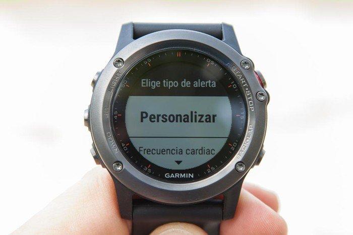 Garmin Fenix 3 - Configuración de alertas