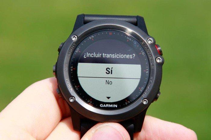 Fenix 3 - Configurar transiciones