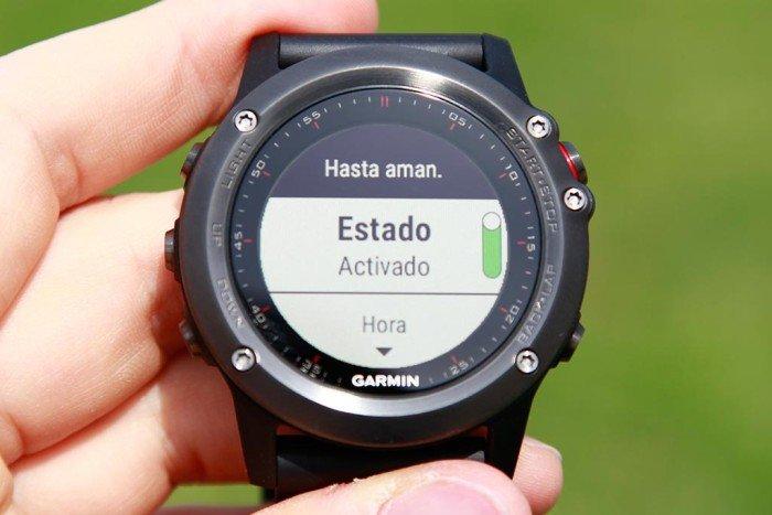 Garmin Fenix3 - Alerta hasta amanecer