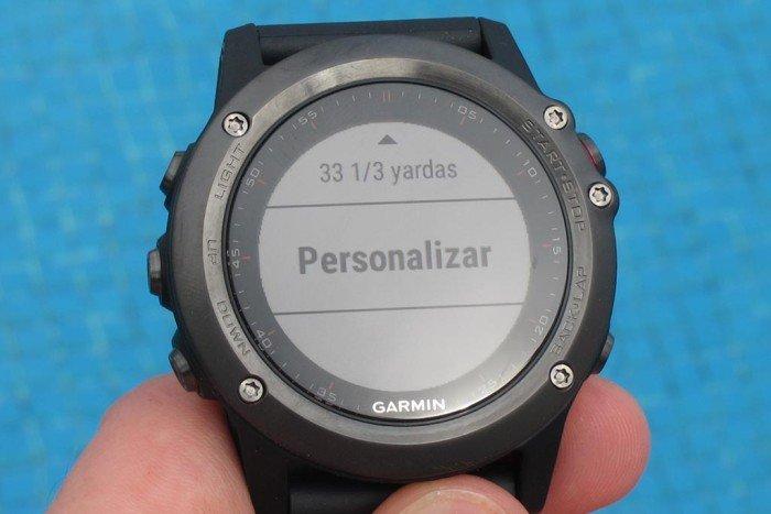 Garmin Fenix 3 - Personalizar piscina