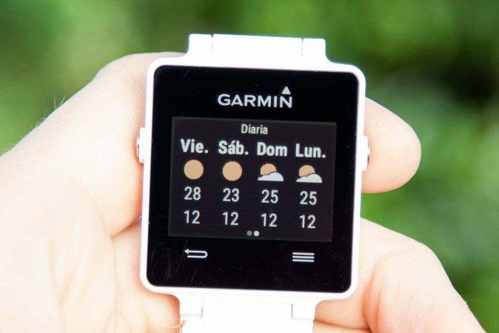 Garmin Vivoactive - Widget tiempo