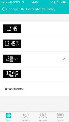 Fitbit Charge - Configuración reloj