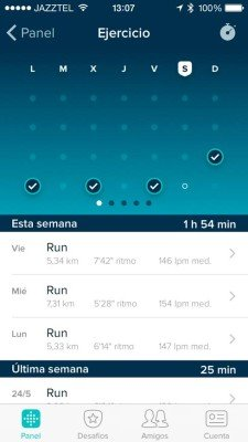Fitbit Charge - Distancias y ritmos