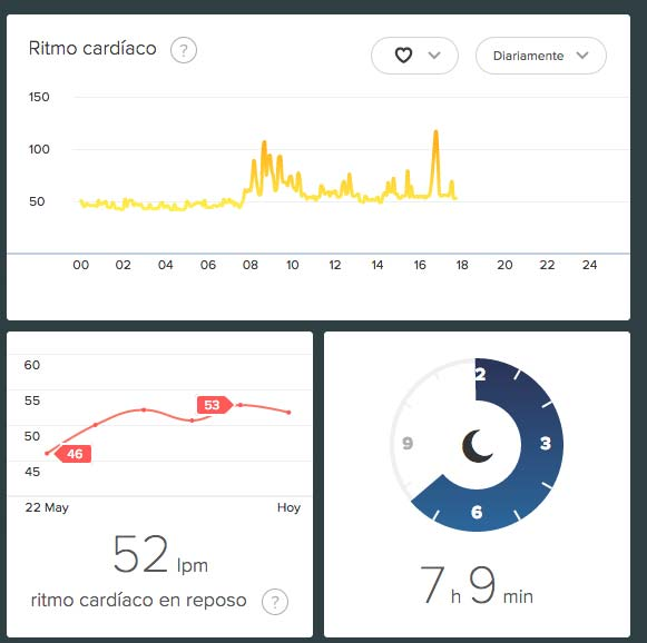 Fitbit Charge - Análisis de sueño