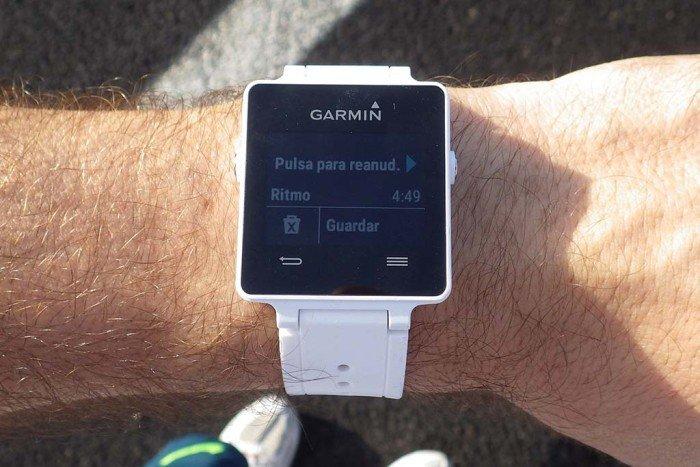 Garmin Vivoactive - Actividad pausada