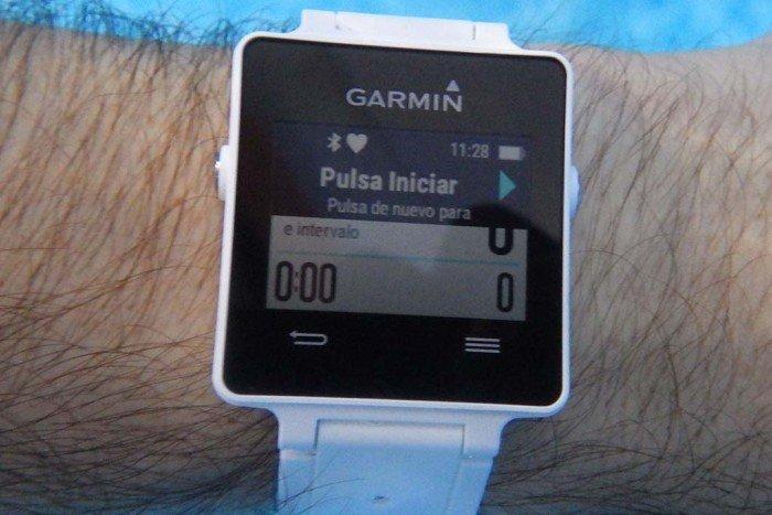 Garmin Vivoactive - Pulsar para iniciar