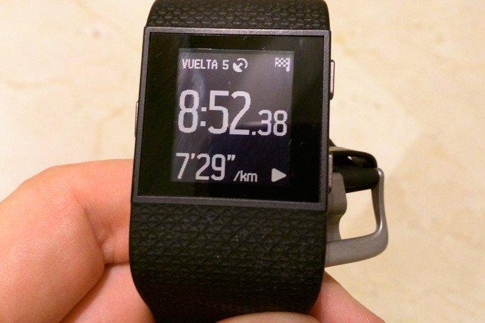 Fitbit Surge - Actividad pausada