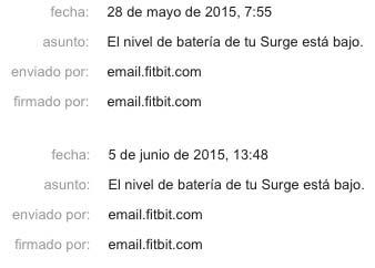 Fitbit Surge - Autonomía