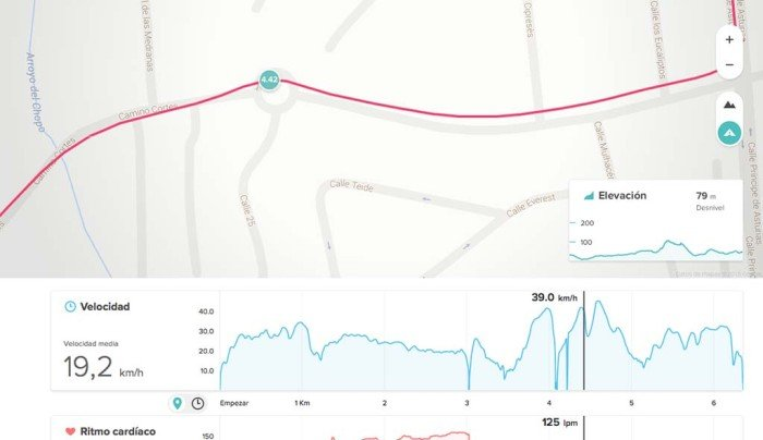 Fitbit Surge - Compare GPS data in cycling